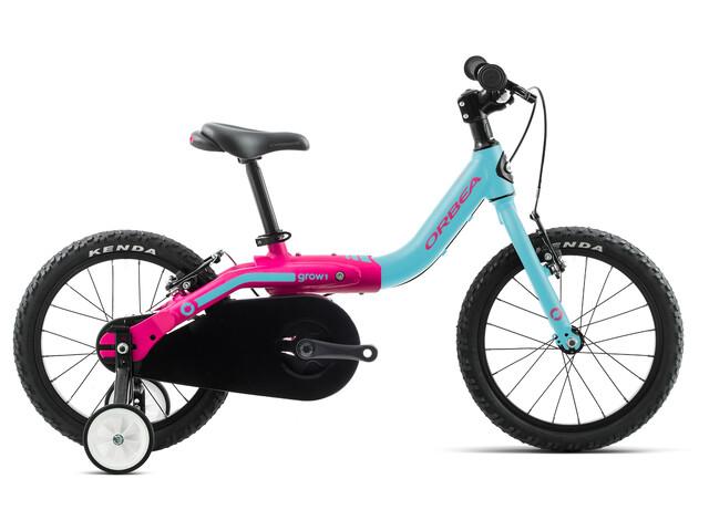 "ORBEA Grow 1 - Vélo enfant - 16"" rose/turquoise"